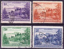 Norfolk Island 1947-1959 Lot Of Definitives Mi 2x, 6x, 7y, 14y Used O - Norfolk Island