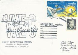 Lettre Deep Freeze 1983 VXE-6 - Timbre USA N°1335, 1337 Et 921 - Cachet Du 03/02/1984 - Dépendance De Ross (Nouvelle Zélande)