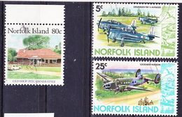 Norfolk Island 1980-1987 Lot Of Real Use Definitives Mi 243, 246, 411 Used O - Norfolk Island
