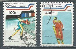 Congo YT N°862-866 Jeux Olympiques D'hiver Albertville 1992 Oblitéré ° - Afgestempeld