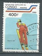 Congo YT N°866 Jeux Olympiques D'hiver Albertville 1992 Oblitéré ° - Afgestempeld