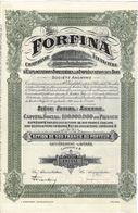 Titre Ancien - Forfina - Compagnie Financière  D'Exploitations Forestières & D'imprégnation Des Bois - Titre De 1929 - - Banque & Assurance