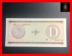 CUBA 1 Peso 1991  P. FX 32  Serie D   UNC - Kuba
