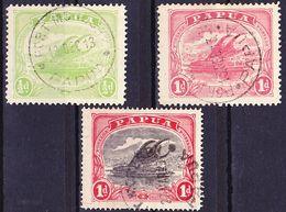 Papua 1911-1916 Lot Of Definitives Wmk Crown Over A Mi 40A, 41A (dent. 12,5), 49 Used O - Papouasie-Nouvelle-Guinée