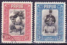 Papua 1932 Definitives Mi 81, 83 Used O - Papouasie-Nouvelle-Guinée