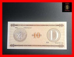 CUBA 10 Pesos 1991  P. FX 35  Serie D   UNC - Kuba