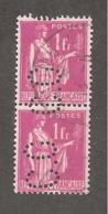 Perfin/perforé/lochung France No 369 C.O Crédit De L'Ouest (327) - France