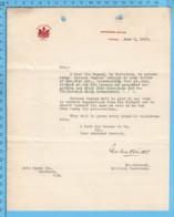 Original ( Filigrane) - Militia & Defence Canada 1913 Au Maire De Richmond Quebec , Lt. Colonel Charles F. Winter - Documents Historiques