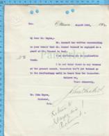 Original ( Filigrane) - Embossé Ministere De La Justice Canada 1913 Au Maire De Richmond Quebec, Patronage Federal - Documents Historiques