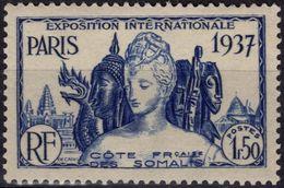 COTE DES SOMALIS 146 * MLH Commémoration De L'exposition Coloniale Internationale De Paris 1937 - Oblitérés