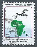 Congo YT N°890 Année Internationale Du Tourisme Africain Oblitéré ° - Afgestempeld