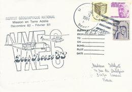 Lettre Deep Freeze 1983 VXE-6 - Timbres USA N°823A, 1179, 1182 - Cachet Du 03/02/1984 - Dépendance De Ross (Nouvelle Zélande)