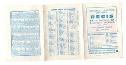 Calendrier 1962 Horlogerie - Bijouterie - Orfevrerie Régis Clermont-Ferrand- Format 22.5x10.5cm - Calendriers