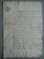Acte Notarié - 1844 - Trun Argentan - Orne - Payement Entre M Baril Et Hansuer - Manuscritos