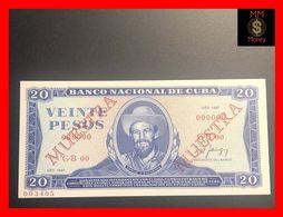 """CUBA 20 Pesos  1987  P. 105  """"MUESTRA""""   UNC - Kuba"""