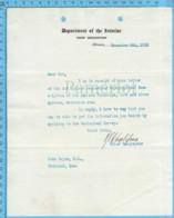 Original ( Filigrane) - Department Of The Interior Canada 1913 Au Maire De Richmond Quebec, Demande Carte Topo... - Documents Historiques