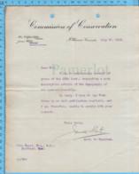 Original ( Filigrane) - Commission Of Conservation Canada 1913 Au Maire De Richmond Quebec, Carte Eastern Townships - Documents Historiques