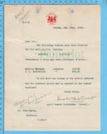 Original ( Filigrane) - Postmaster General Canada 1913 Au Maire De Richmond Quebec, Salaire Postillons Asbesto-Danville - Documents Historiques