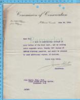 Original ( Filigrane) - Commission Of Conservation Canada 1913 Au Maire De Richmond Quebec, Refuse Disposal Pamphlet - Documents Historiques