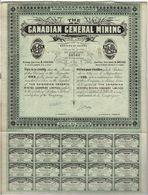 Titre Ancien - The Canadian General Mining Company Limited - Titre De 1905 - - Mines