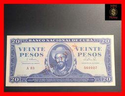"""CUBA 20 Pesos  1965 P. 105  """"SPECIMEN""""   UNC - Kuba"""