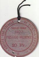 Carte D'invitation Aux Courses Hippiques De Pont L'Evêque. - Equitazione