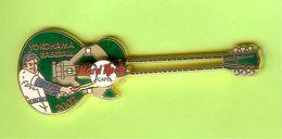 Pin's Hard Rock Café Yokohama Baseball Guitare (La Balle Est Mobile) - HRC070 - Musique