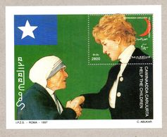 SOMALIA, 1998 - FOGLIETTO - SOUVENIR SHEET - MADRE TERESA E LADY DIANA, MNH** - Somalie (1960-...)
