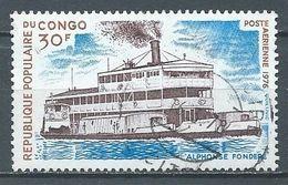 Congo Poste Aérienne YT N°217 Bateau Alphonse Fondere Oblitéré ° - Afgestempeld