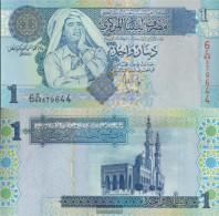 Libya Pick-number: 68b Uncirculated 2004 1 Dinar - Libyen