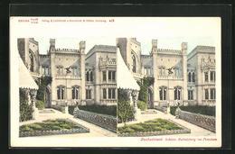 Stereo-AK Potsdam, Schloss Babelsberg - Cartes Stéréoscopiques