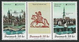 "DINAMARCA / DENMARK / DÄNEMARK /DANMARK- EUROPA 2020 -""ANCIENT POSTAL ROUTES"" - THREE STAMPS From SOUVENIR SHEET - Europa-CEPT"