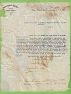 Torres Vedras - Aveiro  Carta De Ângelo Custódio Rodrigues A José Maria Vilhena Barbosa De Magalhães - Lisboa - Portugal