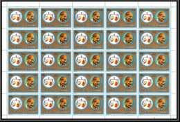 Fujeira - 1592ff N°1311 Gandhi Zodiac Libra Balance Inde India Feuille Complete (sheet) Neuf ** MNH - Mahatma Gandhi