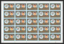 Fujeira - 1592kk N°1316 Kennedy Zodiac Gemini Gémeaux Usa Feuille Complete (sheet) Neuf ** MNH - Kennedy (John F.)