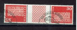 SUISSE 1968 Maison à GAIS /  PAPIER FLUO Tête-bêche AVEC PONT YT 819b Oblitérés/ BELLE OBLITERATION AVION GENEVE+++ - Tete Beche