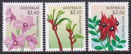 Australia 2014 Flowers Sc 4057-59 Mint Never Hinged (high Values) - 2010-... Elizabeth II