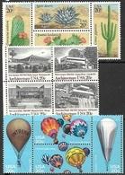 US 1981-3   3 Better 20c Setanet Blocks  MNH   Cactus, Architecture, Hot Air Balloons. - United States