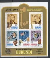 Burundi 1977 Telephone Centenary, Alexander Graham Bell MS MUH - Burundi