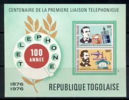 Togo 1976 Telephone Centenary, Alexander Graham Bell MS MUH - Togo (1960-...)