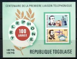 Togo 1976 Telephone Centenary, Alexander Graham Bell MS IMPERF MUH - Togo (1960-...)