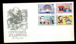 Togo 1976 Telephone Centenary, Alexander Graham Bell FDC - Togo (1960-...)