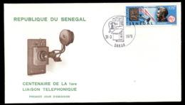 Senegal 1976 Telephone Centenary, Alexander Graham Bell FDC - Senegal (1960-...)