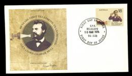 Australia 1976 Telephone Centenary, Alexander Graham Bell FDC - FDC