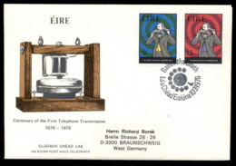 Ireland 1976 Telephone Centenary, Alexander Graham Bell FDC - 1949-... Republic Of Ireland