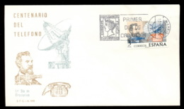 Spain 1976 Telephone Centenary, Alexander Graham Bell FDC - 1931-Aujourd'hui: II. République - ....Juan Carlos I