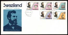 Swaziland 1976 Telephone Centenary, Alexander Graham Bell FDC - Swaziland (1968-...)