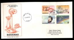 Bahamas 1976 Telephone Centenary, Alexander Graham Bell FDC - Bahamas (1973-...)