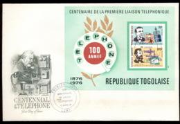 Togo 1976 Telephone Centenary, Alexander Graham Bell MS IMPERF XLFDC - Togo (1960-...)