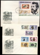 Grenada Grenadines 1976 Telephone Centenary, Alexander Graham Bell 3x XLFDC - Grenade (1974-...)